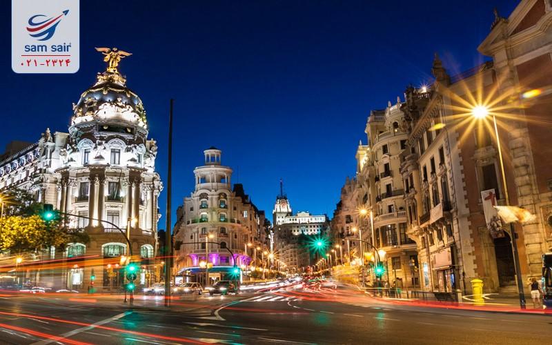 مناطق گردشگری در تور اسپانیا