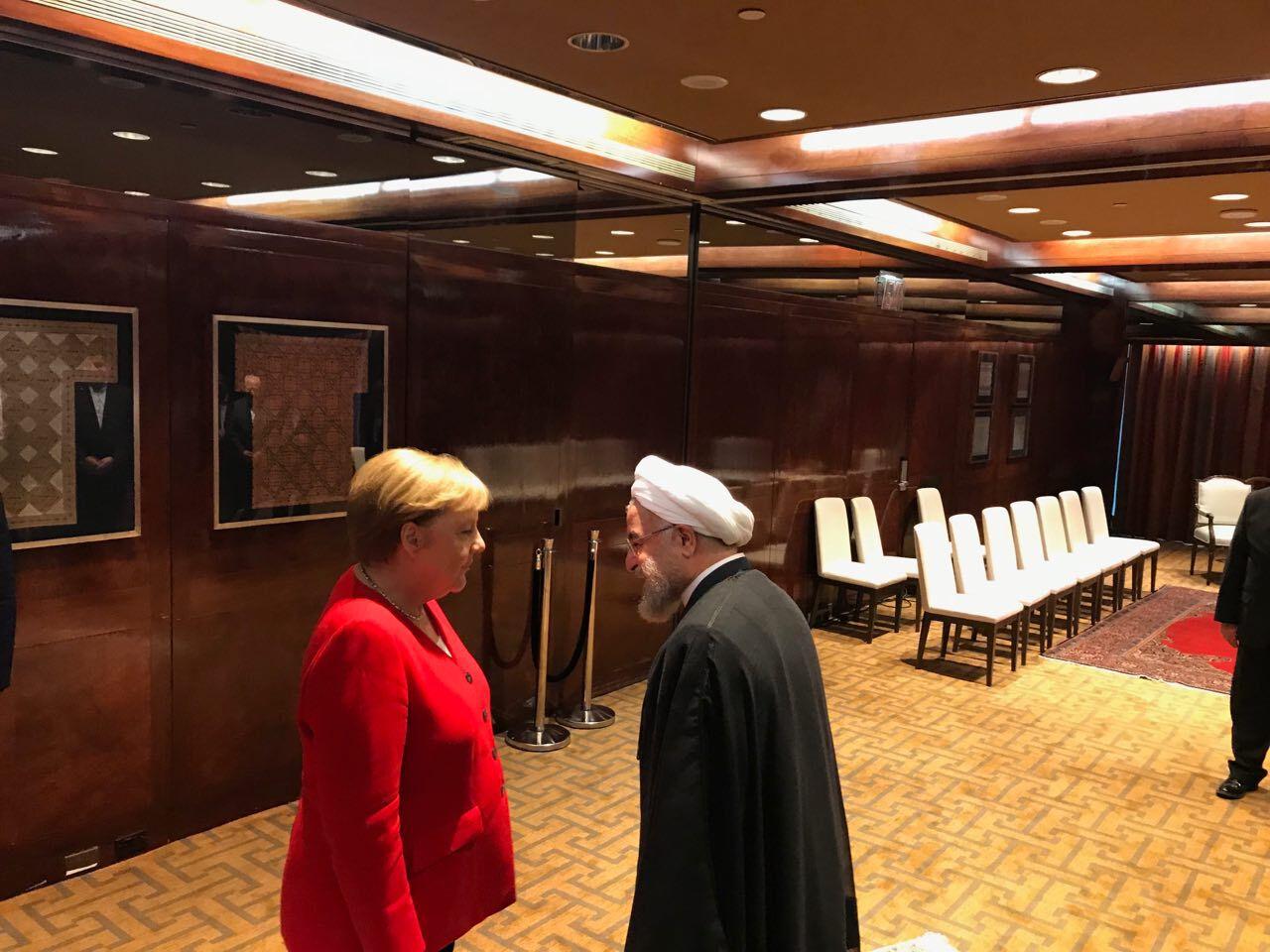 نخستین دیدار صدر اعظم آلمان با رئیس جمهوری اسلامی ایران