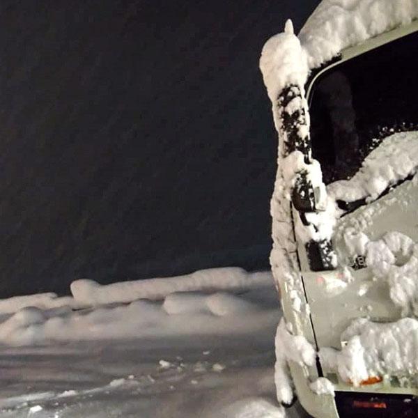 برف و کولاک در«امامزاده هاشم گیلان»